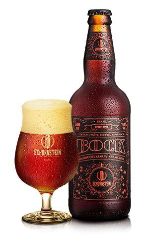 Cerveja Schornstein Bock - Cerveja Artesanal Schornstein Bock  É uma cerveja forte e robusta do estilo Bock, com um volume de teor alcóolico de 7,0% tem coloração avermelhada, sua espuma é cremosa de cor castanha clara. Tem um aroma suave de caramelo, madeira e tostado, ao beber um toque leve adocicado e encorpada. Harmoniza muito bem com carne vermelha e queijos.  Copo Ideal Bock