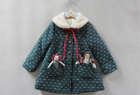 Girl's winter coat  for  Everyday,Christmas, special design!Green winter coat 24M~8Years old Made to order