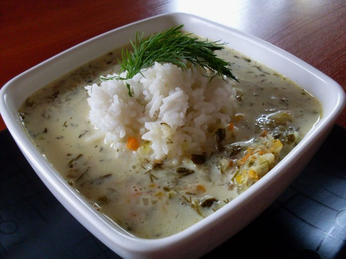 Soup made from pickled cucumbers