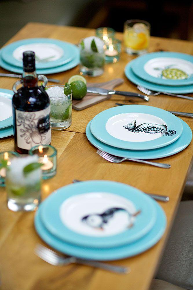 Jersey Pottery Neptune tableware #JerseyPottery #ceramics #pottery #marine