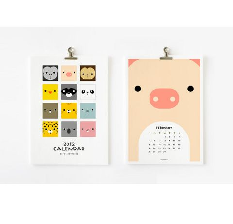 Cute printable animal calendars for 2012! // via @Ez Pudewa