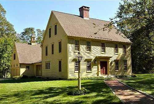 147 best images about saltbox colonial homes on for Colonial saltbox house plans