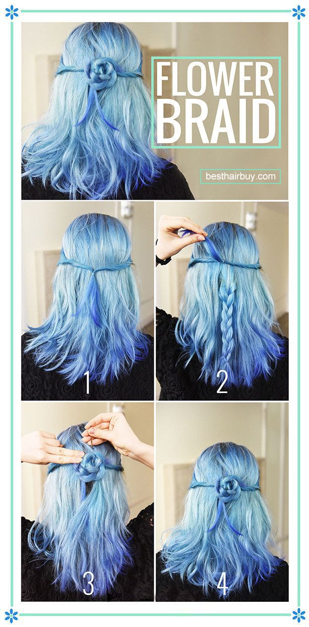 wow, the blue hairstyle is so special!