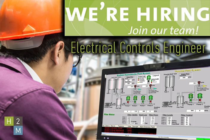 We're Hiring! Electrical Controls Engineer! Job Description: This position will be responsible for providing Electrical Controls System/SCADA engineering design and programming support. He/she will work with senior and mid-level engineers to assist in the design of instrumentation and control systems for municipal and industrial clients. Typical projects involve field surveying, design activities, cost estimating, report generation, and other engineering tasks.
