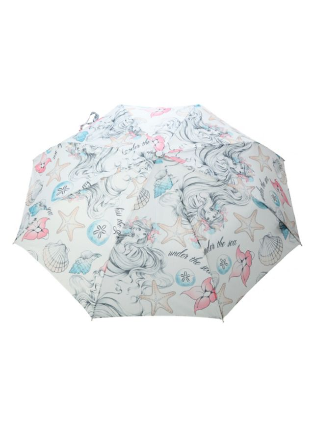 Compact umbrella from Disney's The Little Mermaid with an Ariel print design.