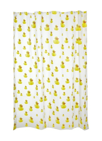 Rubber duckie shower curtain