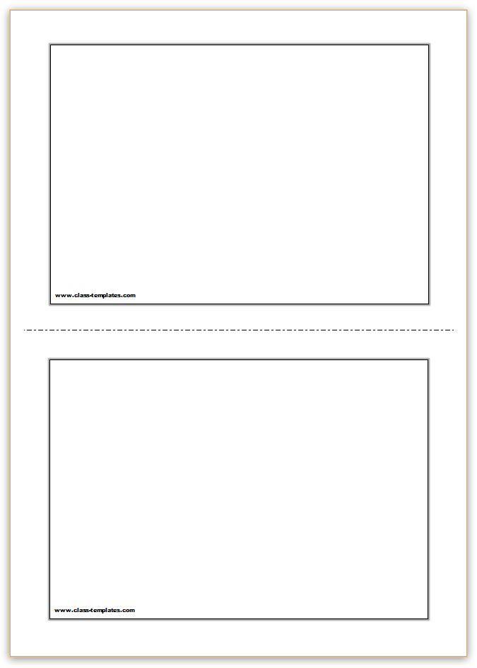 Quality Free Printable Blank Flash Cards Template In 2021 Flash Card Template Printable Flash Cards Free Printable Card Templates