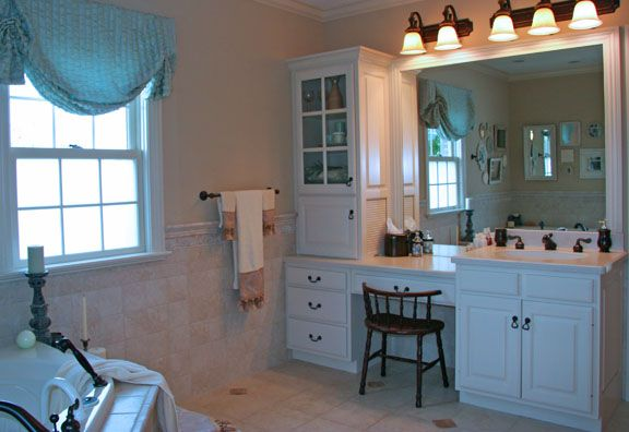 A Bathroom For HER Only! With A Jetted Whirlpool Tub, Makeup Vanity And Heated Tile Floors. The