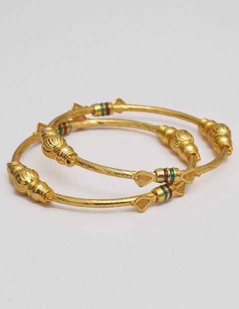 Indian Gold Brush Plated Bangles Bracelet Kadas Set on Etsy, $48.00