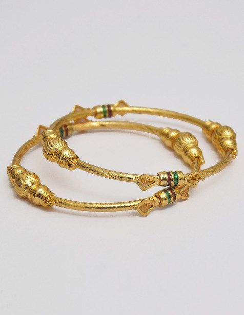 Indian Gold Brush Plated Bangles Bracelet Kadas Set on Etsy, $48.00