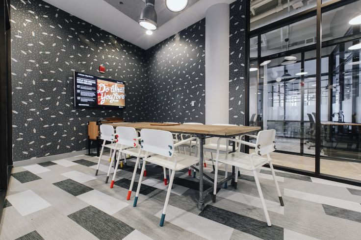We are pleased with how WeWork Boston fully embraced the spirit of Bolon's Studio line to customize its office - not surprising from a group of entrepreneurs. Using both Studio Wing and Plank Tiles in patterns from several of our lines, WeWork used the Studio line in the way it was initially meant to be used: to create a distinctive and individual look to smaller spaces. Through the use of creative flooring, WeWork has successfully shown its personality throughout their office.