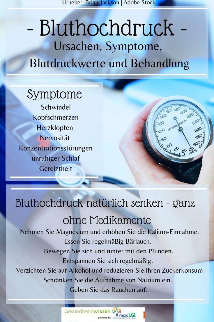 Symptome Bluthochdruck