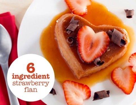 6-Ingredient Strawberry Flan @Mama's High Strung