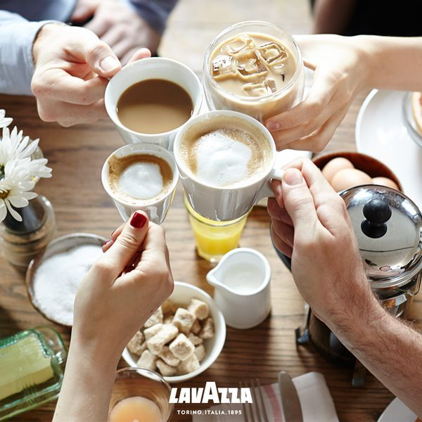 Cheers to the holidays and delizioso Lavazza coffee! [Promotional Pin]