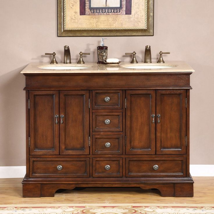 Silkroad exclusive mesa 48 inch double sink bathroom vanity 48 inch bathroom vanity
