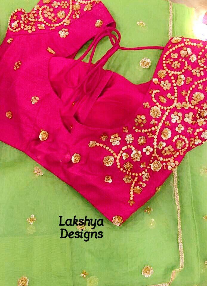 statementblouse saree sequencework Lakshyadesigns  12 September 2016