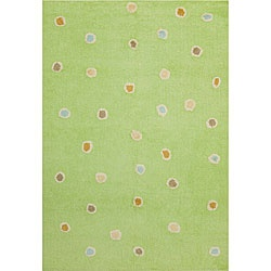 @Overstock - Brighten up the look of your childs floor with this handmade 4 X 6 cotton rug. With a fun green background accented by multicolored polka-dots, this fun and funky rug with a 0.25-inch pile will add complementary warmth and comfort to any room. http://www.overstock.com/Home-Garden/Handmade-Green-Dots-Cotton-Rug-4-x-6/4812717/product.html?CID=214117 $58.99