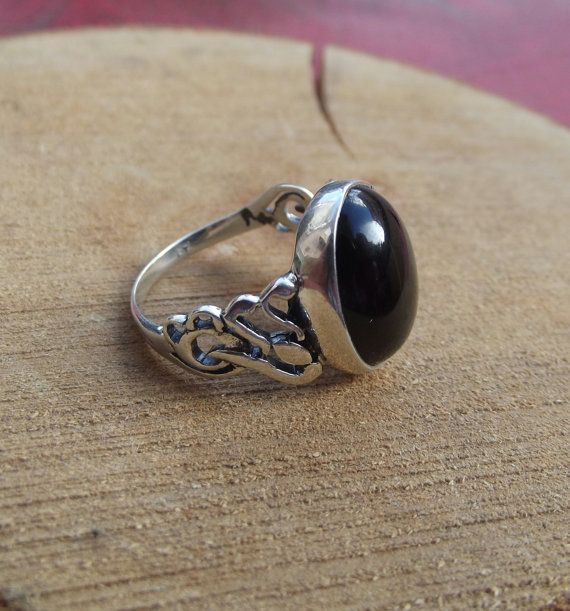 925 sterling silver men ring with onyx stone by silveringjewelry