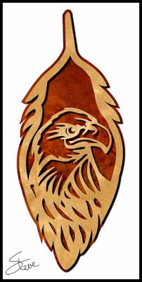 Eagle Feather Scroll Saw Pattern.
