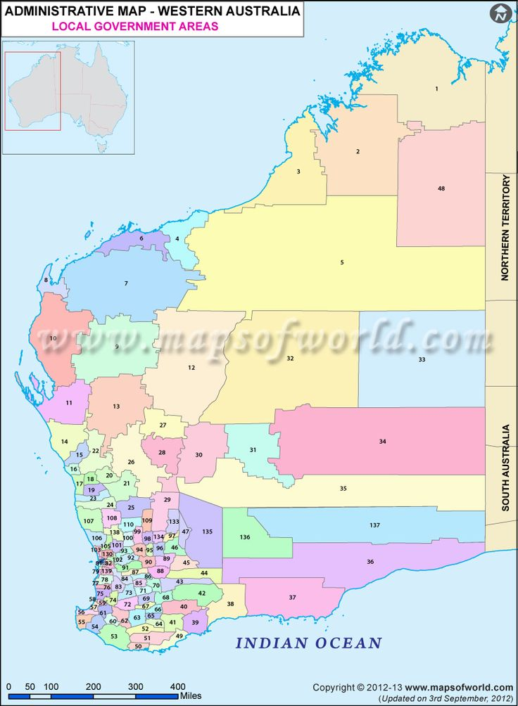 Map Of Local Government Areas In Western Australia