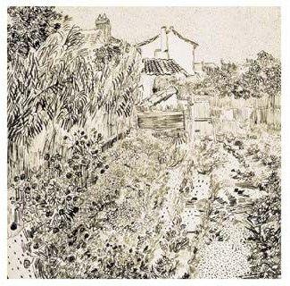 The Flower Garden, 1888 Vincent Van Gogh #impressionism