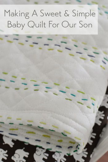 Such an easy and sweet quilt even a non-sewer can make.