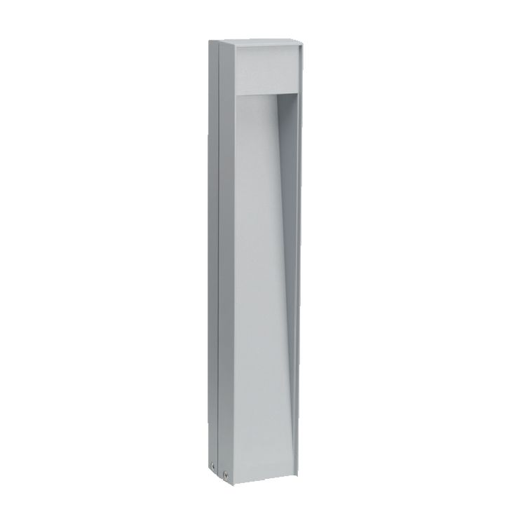 STANDING BOLLARD; Its essential design, aluminium structure, and LED light source allow this post light to fit into your garden discretely yet with personality. STANDING is a downlight for walkways and driveways and can be used for lighting gardens and flower beds • TPL LIGHTING • MERGING LIGHTING WITH DESIGN • TPLLIGHTING.COM • TORONTO, CANADA •