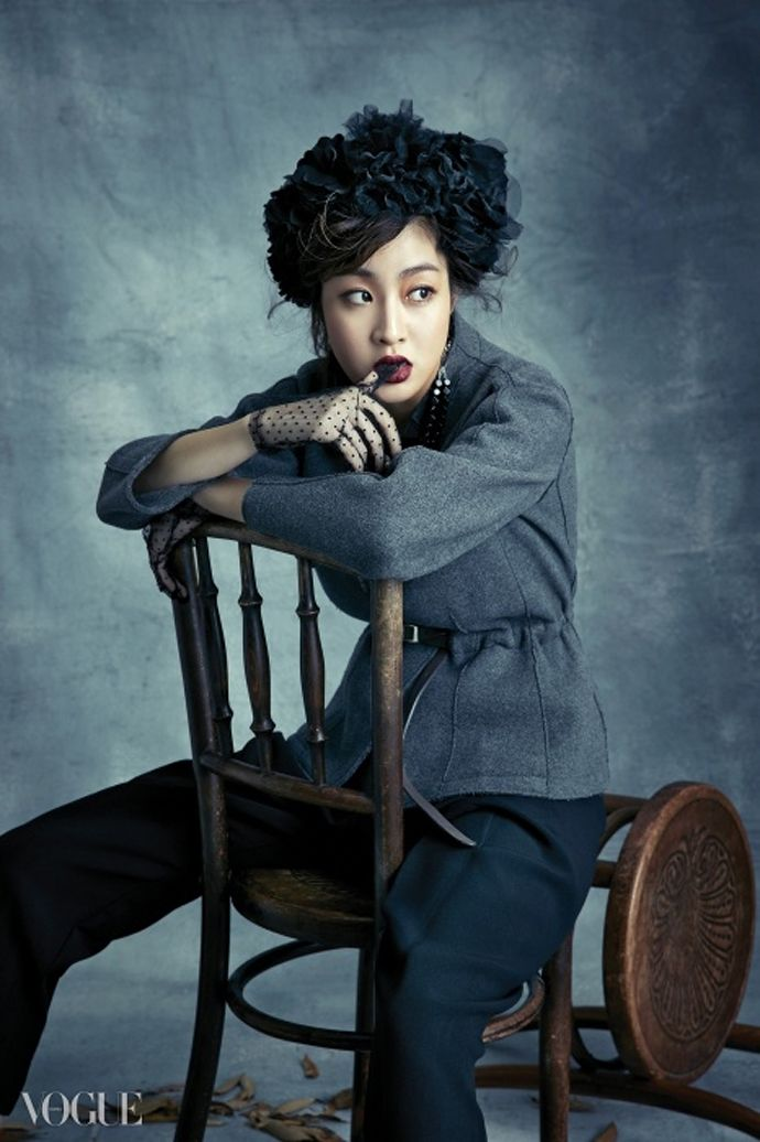 Kang So Ra Goes For Dark Glam For Vogue Korea's December 2014 Issue