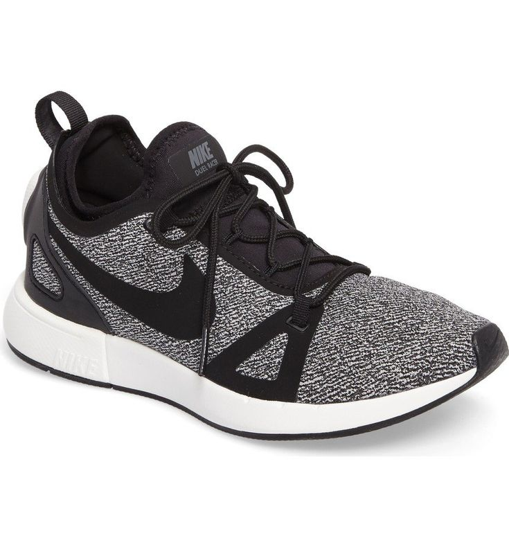 Inspired by Nike's high-performance Duelist racing shoe, this street-performance sneaker delivers durable, reliable cushioning and all-day comfort. The inner sock hugs the foot for a contoured, snug fit while the exterior knit cage provides flexible bounce-back structure. Strategic padding at the ankle and heel work with the lightweight, flexible sole to absorb impact and move you forward with every step.