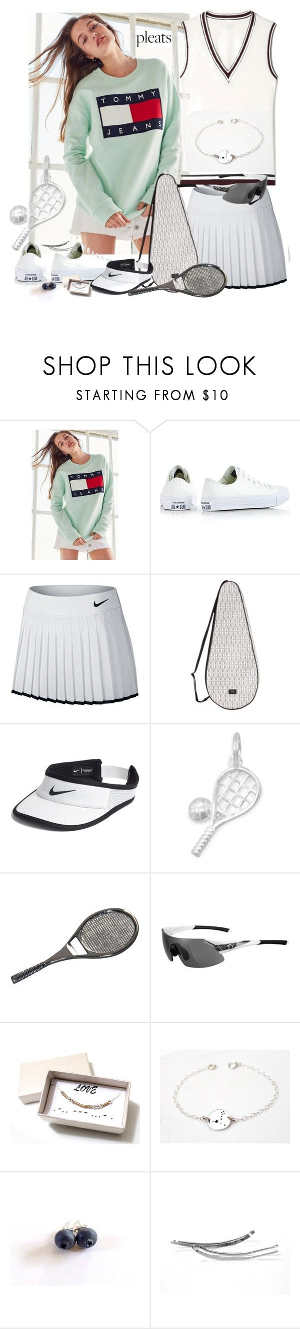 """""""Tennis!"""" by treasury ❤ liked on Polyvore featuring Tommy Hilfiger, Converse, NIKE, Dagmar and Tifosi"""