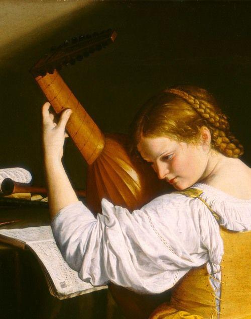 "(100+) Tumblr  ""the lute player (detail) c. 1612/20,  Orazio  Gentileschi"