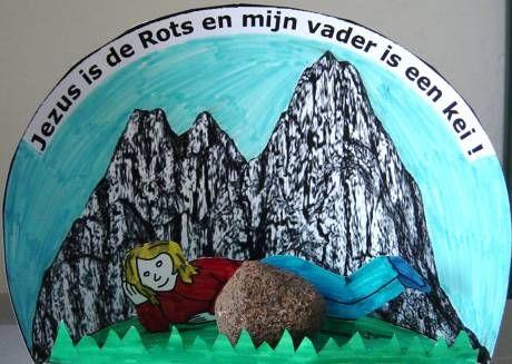 Jezus is de rots en mijn vader is een kei.Vaderdag www.gelovenisleuk.nl