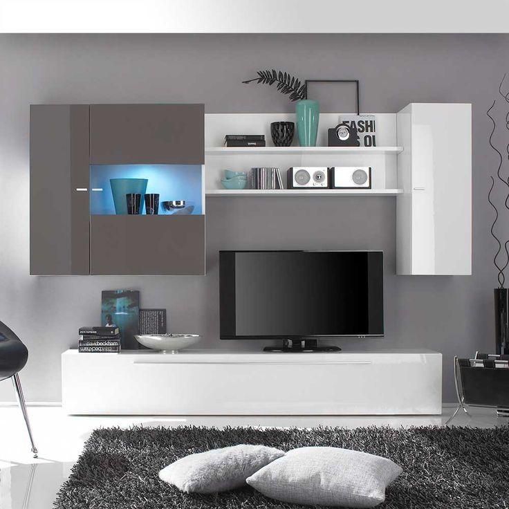 Die besten 25+ Tv schrank weiß hochglanz Ideen auf Pinterest Bad - wohnzimmer weis modern