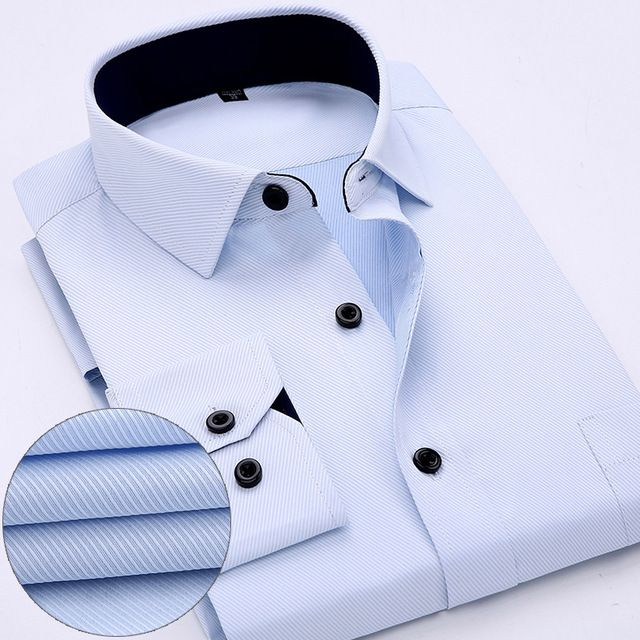 Promotion price 2017 Men Dress shirts Long sleeve Solid Business Man Shirt Twill Mens Work Shirt White Color camisa social masculina just only $11.99 with free shipping worldwide  #shirtsformen Plese click on picture to see our special price for you