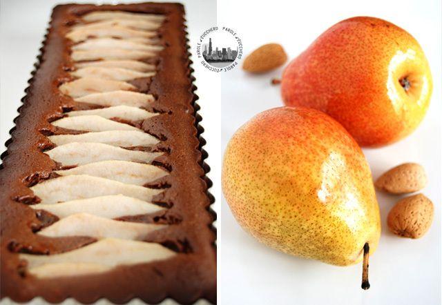 Easy chocolate-pear-almond cake! Dolce facile cacao, pere e mandorle!
