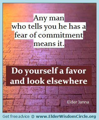 how to deal with a mans fear of commitment relationship