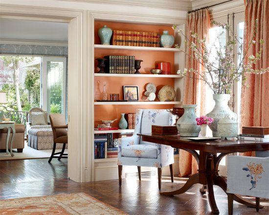 An elegant peach interior