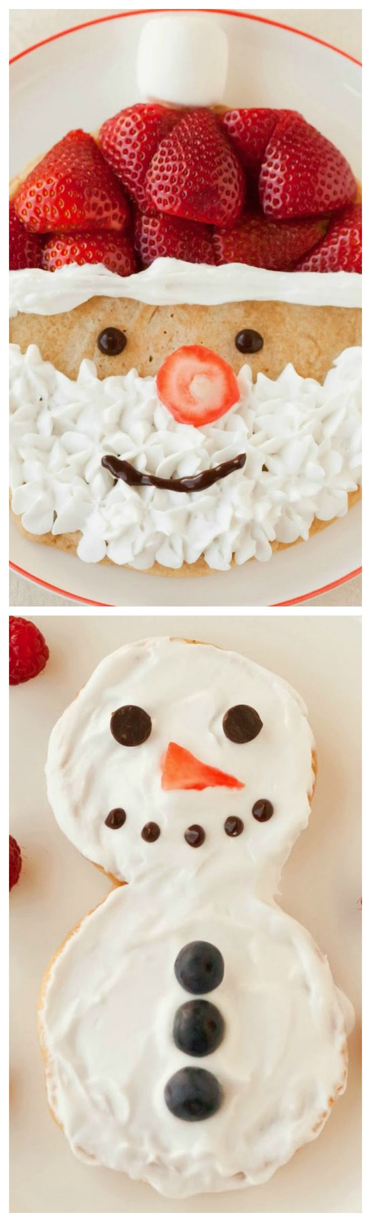How To Make Santa Claus and Snowman Pancakes ~ Fun and happy breakfast!