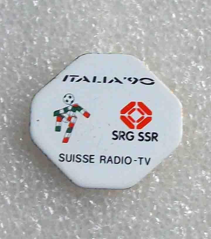 football/soccer pin  FIFA WORLD CUP ITALY 1990 SUISSE RADIO-TV rare  | eBay