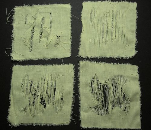 fabric disintegration | ... By Melanie - City & Guilds Blog: Making Fabric Disintegrate or Grow 1