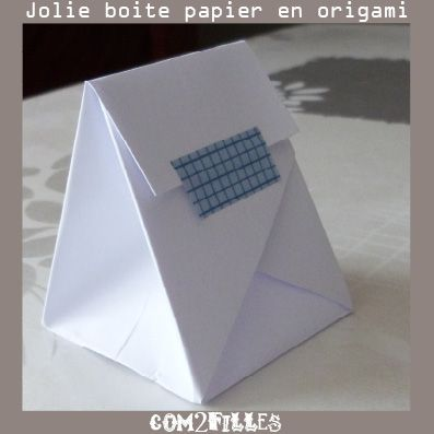 boite papier origami tutoriel