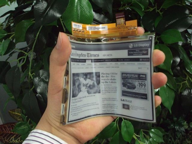 LG begins mass production of flexible e-paper display | The Verge
