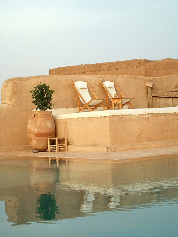 Pool at Tigmi hotel in Marrakech Morocco - on my travel bucket list @LaVieAnnRose
