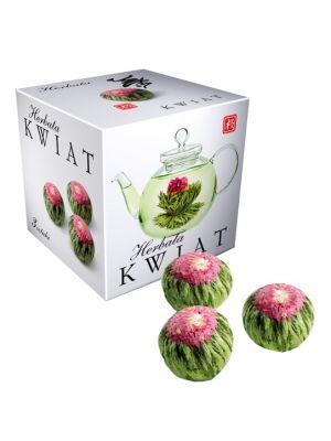 Herbata Kwiat 3szt  • herbata ozdobna • orzeźwiający smak • doskonała na spotkania ze znajomymi • ręcznie zwijane liście