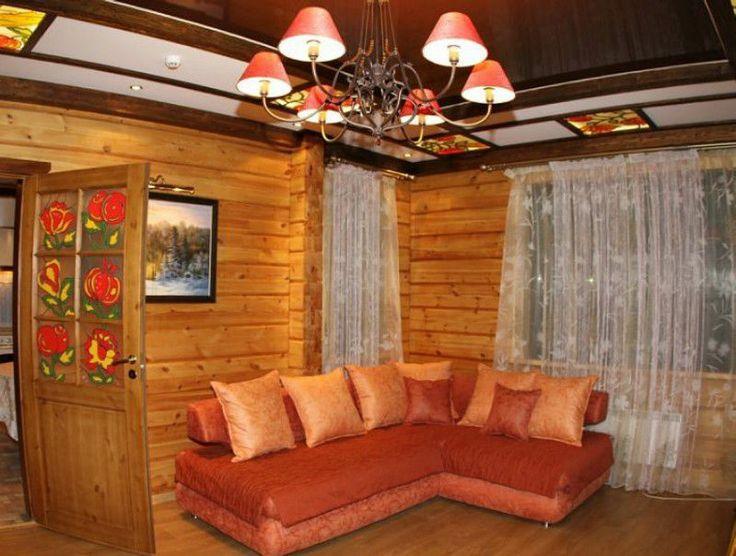 Шторы для гостиной и подушки в загородном доме #Интерьер #Гостиная #Шторы