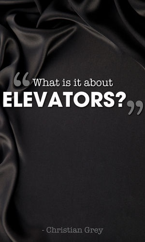 """""""'What is it about elevators?' he mutters, more to himself than to me as he strides across the lobby."""" p.79"""