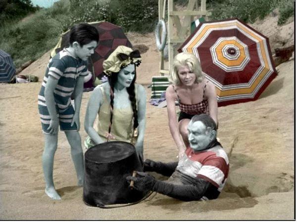 The munsters beach trip!
