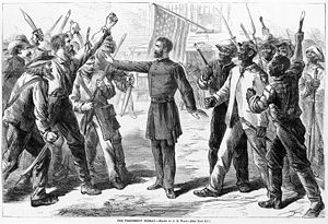 The Freedmen's Bureau, was a U.S. federal government agency that aided distressed freedmen (freed slaves) in 1865–1872, during the Reconstruction era of the United States.