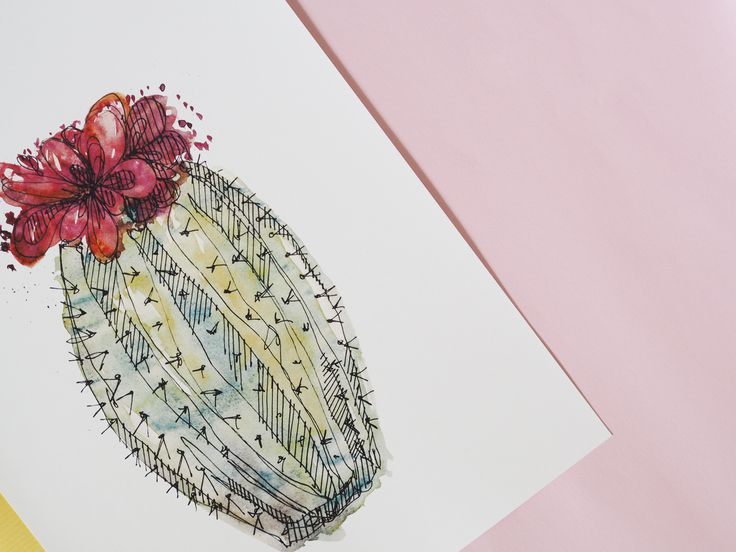 Cactus and succulent illustration series by littlespidermonkey #cactus #illustration # etsy #succulent #watercolor #hipster #tumblrroom #tumblr