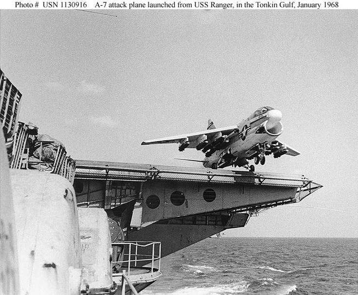 A7 Corsair II - USS Ranger  Viet Nam - January 1968